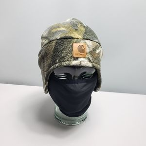 Mens carhartt camo hat with built in face mask